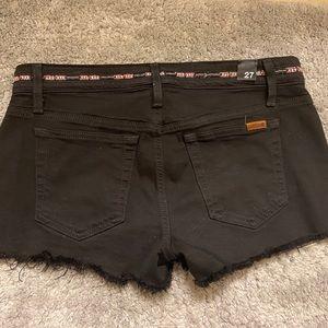 Joe's Jeans Black Denim Shorts Size 27